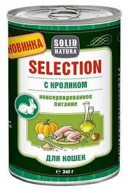 Корм для кошек <b>Solid Natura Selection</b> с кроликом, с <b>курицей</b> 340 г ...