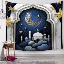 New <b>Ramadan</b> Tapestries 150*130cm Polyester Printed Hanging ...