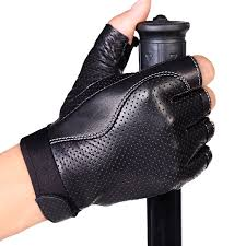 <b>Genuine Leather</b> Gloves <b>Semi Finger</b> Spring And Autumn Gulps Half ...