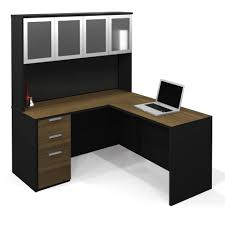 mainstays l shaped desk with hutch multiple finishes bathroomoutstanding black staples office furniture lshaped