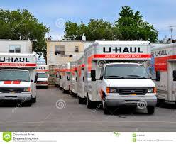 Uhaul Truck S U Haul Trucks In Brooklyn Depot Ready For Movers Editorial Photo