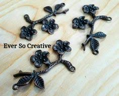ESC-C01 <b>Antique Silver Hollow</b> Middle Connectors: 20pcs | Beads ...