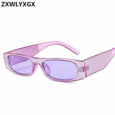 ZXWLYXGX Small square sunglasses women <b>imitation diamond</b> ...