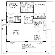ideas about Bedroom House Plans on Pinterest   House plans    I like the open floor plan but it would need another bedroom and a basement