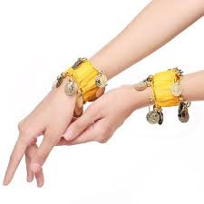 Buy 2Pcs Women's <b>Belly Dance Chiffon</b> Wristband Tassels National ...