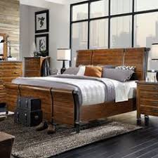 aspenhome rockland wood iron sleigh bed in worn tobacco by humble abode the awe inspiring awe inspiring mirrored furniture bedroom sets