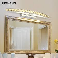 new free shipping 15w led crystal mirror wall lamp bathroom lights 90 260v stainless sconces cheap bathroom lighting