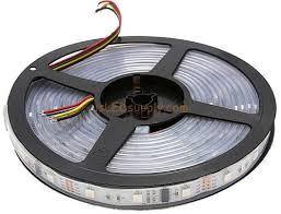 <b>12V</b> RGB Flexible <b>LED</b> Strip 16' <b>Roll</b> (Digital Point Control) (<b>WS</b> ...