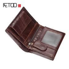<b>AETOO New</b> men's <b>purse</b> short paragraph hand worn color <b>leather</b> ...