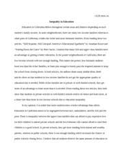 crash movie and social justice essay   this is my second time   pages inequality in education essay