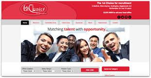 recruitment website design portfolio green umbrella 1st choice recruitment website design