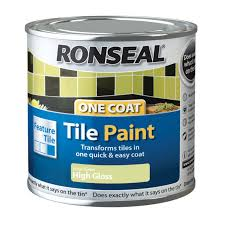 Red Tile Paint For Kitchens Ronseal Tile Paints Lime High Gloss Tile Paint 250ml Departments