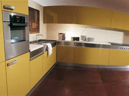 yellow kitchen modern cabinet design