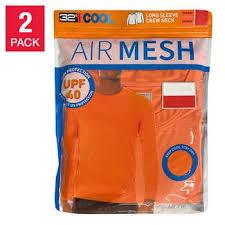 32 Degrees <b>Men's</b> Long Sleeve <b>Air Mesh</b> Tee, 2-pack