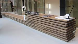 furniture creative wood reception desk design for hotel or exhibition how to make a home china ce approved office furniture reception desk