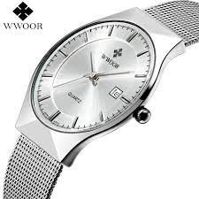 WWOOR <b>Brand Luxury</b> Mens Watches Waterproof <b>Ultra Thin</b> Date ...