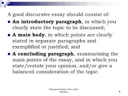 discursive essaysdiscursive essays