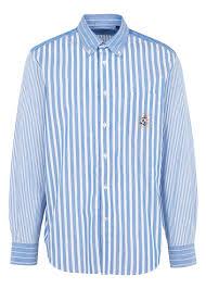 <b>Striped</b> Shirt With Button-down Collar 5aamulti Blue <b>Faconnable</b> - <b>Men</b>
