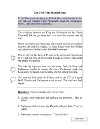 short term causes of the english civil war year study worksheet short term causes of the english civil war