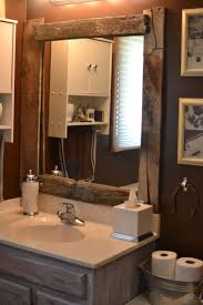 wood bathroom mirror digihome weathered: diy barn wood framed mirror id love to re trim and re frame everything with old barn woodnotice the really cute vanity also