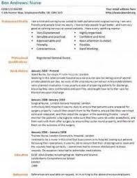 cv template nurse Nursing CV template  nurse resume  examples  sample  registered  resumes  healthcare work  jobs