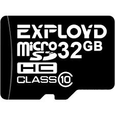 Карта <b>MicroSD</b> 32 ГБ <b>Exployd</b> Class 10 с адаптером