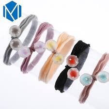 <b>M MISM 1pc</b> Hair Tie Rope Elasitc Hair Bands With Colorful Ball For ...