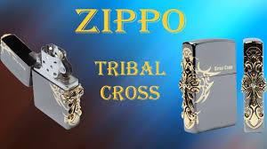 <b>Зажигалка Zippo</b> Tribal Cross. - YouTube
