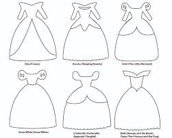 disney princess dress paper templates reiko handcrafted 6 paper dress cutout templates for 8 disney princess characters