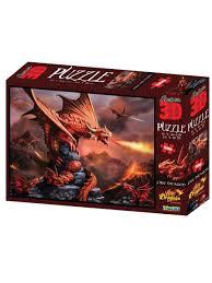 25% <b>Prime 3D</b> Super <b>3D Пазл</b> Огненный дракон, 500 деталей ...