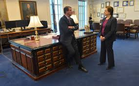 u s department of defense photo essay supreme court justice elena kagan and defense secretary ash carter talk in carter s office before his