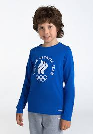 <b>Футболка</b> с <b>длинным рукавом детская</b> ZASPORT, цвет синий ...