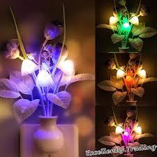 <b>Hot Sale Fashion</b> Flowers Mushroom Bedroom Decor Light ...