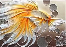 <b>5D DIY</b> Diamond Painting Gold Fish Animals <b>Diamond Embroidery</b> ...