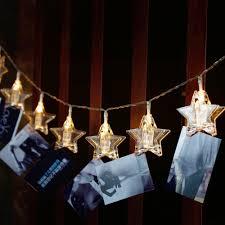 DIDIHOU <b>Stars LED</b> Garlands Card Photo Clip <b>String</b> Lights Battery ...
