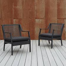 <b>Real</b> Flame Calvin Set of 2 <b>Black</b> Wicker Metal Stationary ...
