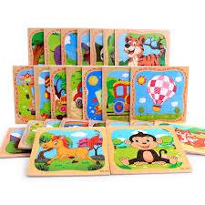 2019 New Baby <b>Puzzles</b> Toys <b>3D Wood Paper</b> Animal Panda ...