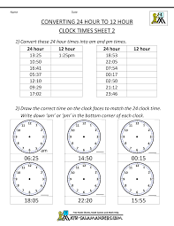 24 Hour Clock Conversion Worksheets24 hour time conversion 24 to 12 hour clock 2