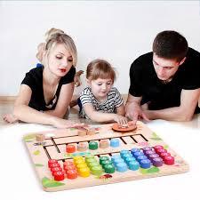 Educational <b>Wood</b> Math <b>Toys</b> For <b>Children Wooden Montessori</b> ...