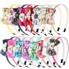 <b>1 PC</b> New Fashion <b>Girls Glitter</b> Hairband Shiny <b>Sequins</b> Children ...