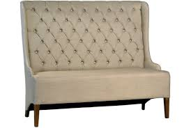 tufted dining bench with back otb upholstered amp tufted back dining bench signature