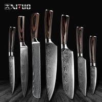 Imitation pattern <b>Damascus</b> steel <b>kitchen knife</b> - Shop Cheap ...
