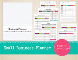 printable small business planner home business planner business binder printable and editable bussiness planner