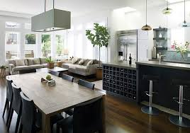 kitchen appealing cool lighting installation  appealing dining space table with high chairs under branched lamp isl
