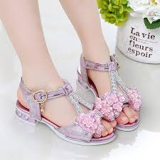 <b>Hot Selling</b> fashion kids shoes girl sandals princess party shoes ₱441