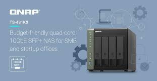<b>Сетевое хранилище Qnap</b> TS-431KX оснащено портом 10GbE ...