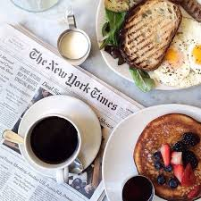 Image result for newspaper coffee toast