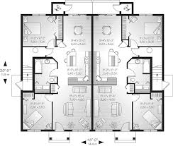 Lehigh Multi Family Fourplex Plan D    House Plans and MoreTraditional House Plan First Floor   D    House Plans and More