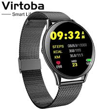<b>Virtoba CN58 Tempered</b> Glass Touch Smart Watch Man Women ...