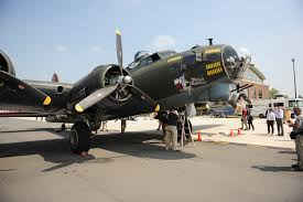 u s department of defense photo essay ors view a world war ii b 17 bomber aircraft on display at manassas regional